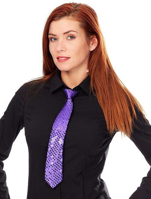 Corbata con lentejuelas                                                                             violeta