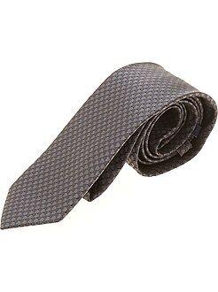Hombre - Corbata con micro motivos cúbicos - Kiabi