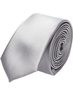 Trajes - Corbata lisa de satén