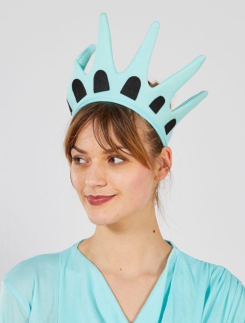 Corona de 'Estatua de la Libertad'                             azul
