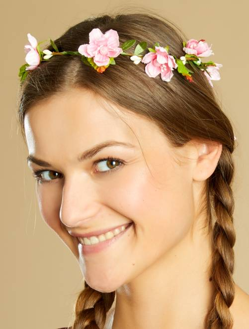 Corona de flores                             blanco