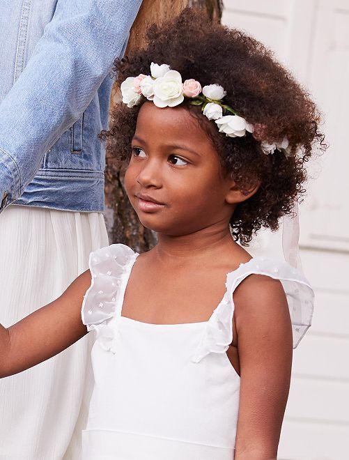 Corona de flores para ceremonia                             rosa Chica