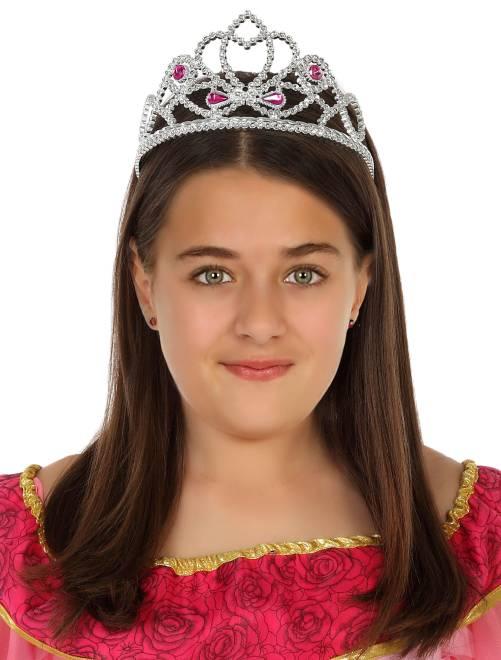 Corona de princesa                             plata Niños