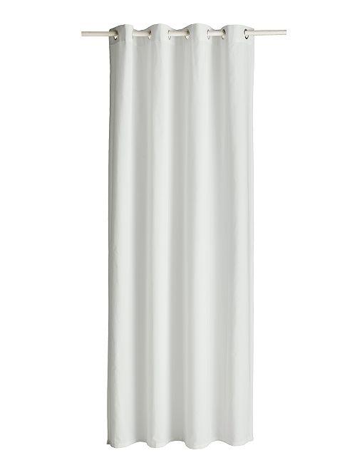 Cortina con ojales                                                                     blanco