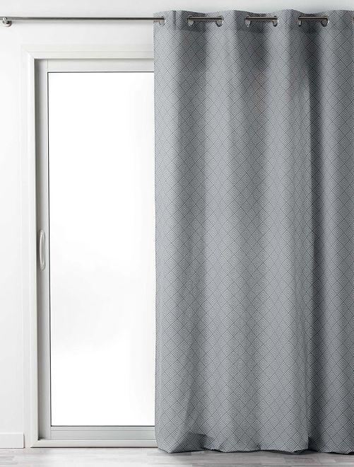 Cortina de algodón estampada Lenon                                         gris