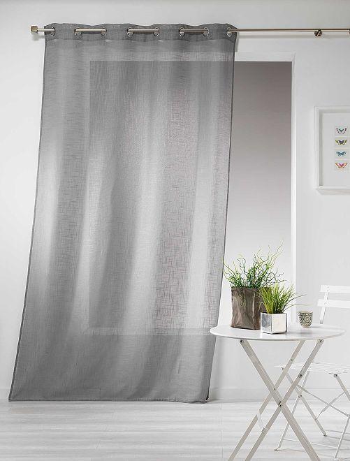 Cortina efecto lino                                                                                         gris Hogar