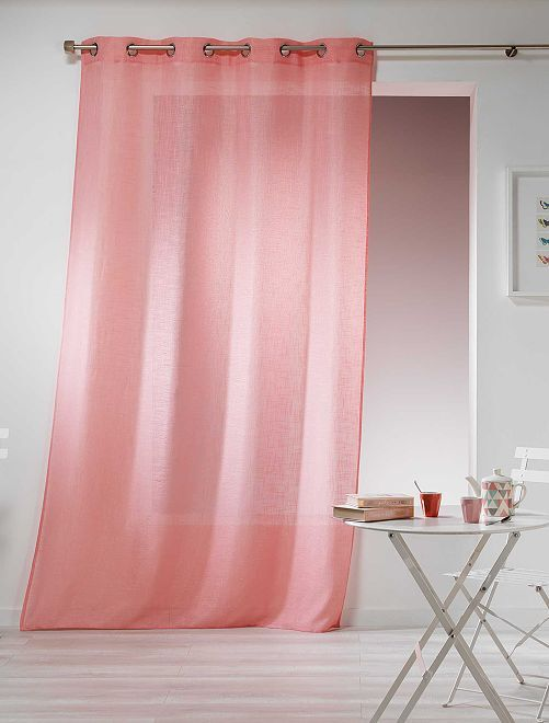 Cortina efecto lino                                                                                                     rosa Hogar