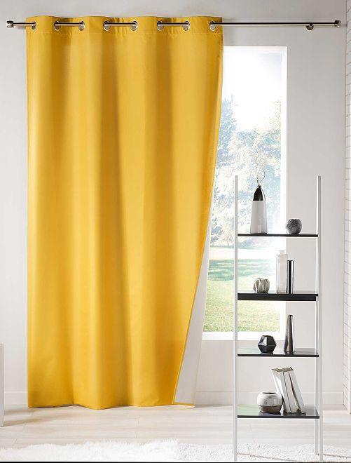 Cortina lisa aislante térmica                                                         amarillo Hogar