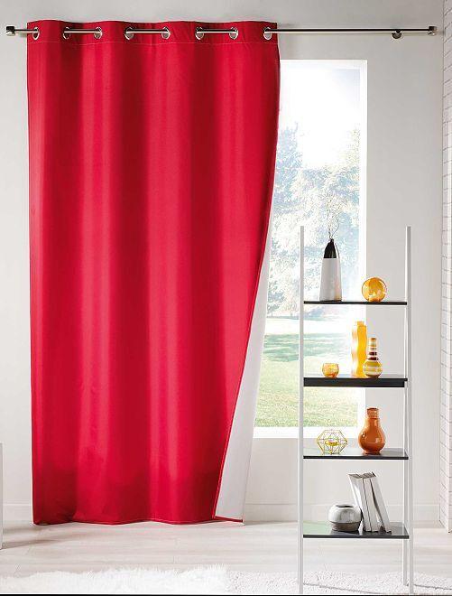 Cortina lisa aislante térmica                                                                 rojo Hogar