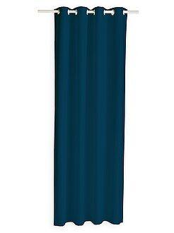 Rebajas cortinas con ojales cortinas opacas hogar kiabi - Cortinas azul marino ...