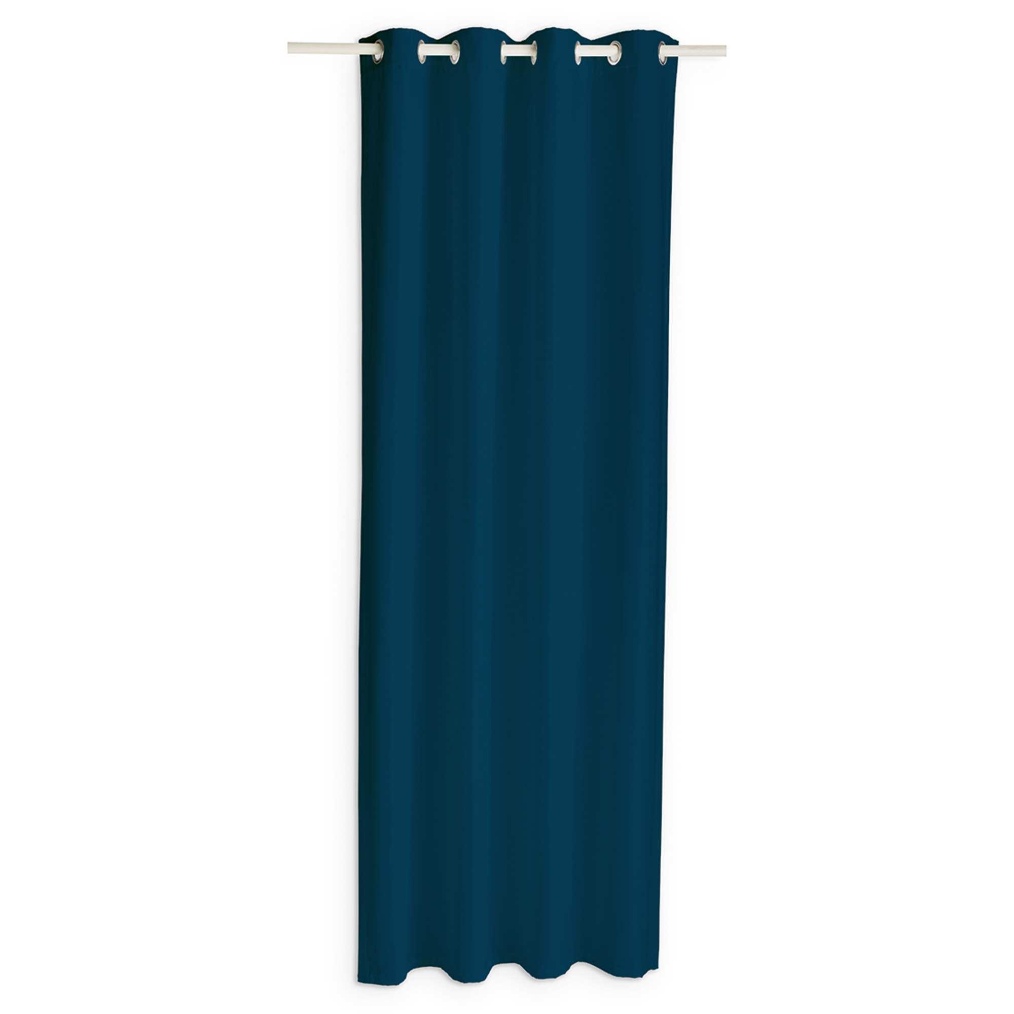 Cortina opaca hogar azul marino kiabi 19 99 - Cortinas azul marino ...