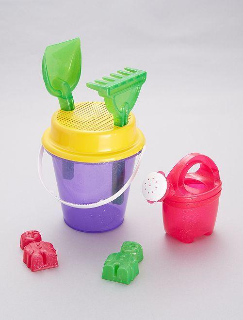 Cubo + accesorios                             violeta
