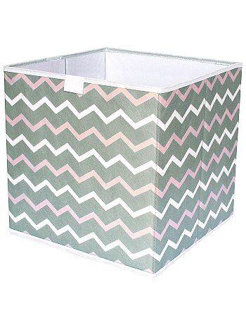Cubo de almacenaje plegable con estampado en 'zigzag' - Kiabi