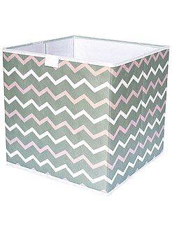 Cubo de almacenaje plegable con estampado en 'zigzag'