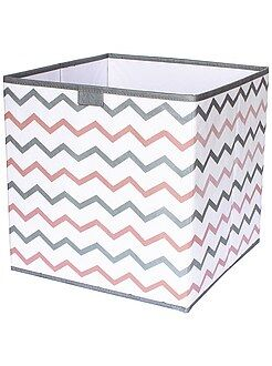 Hogar Cubo de almacenaje plegable con estampado en 'zigzag'