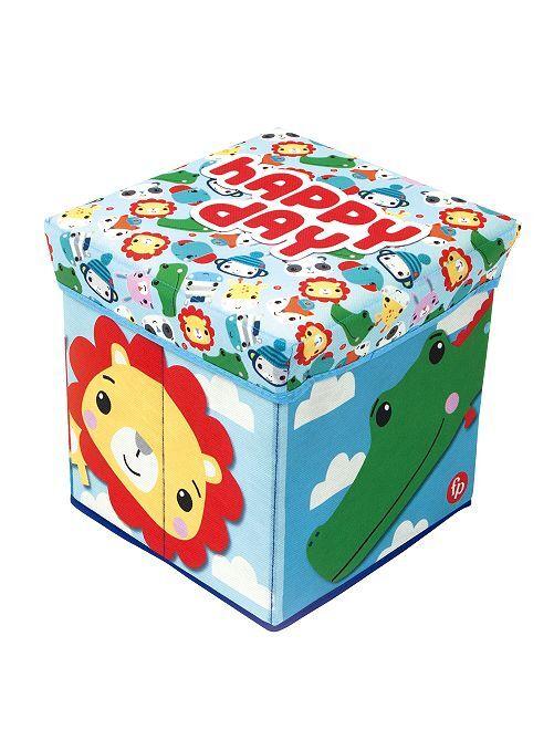 Cubo de almacenaje plegable con tapa                             multicolor