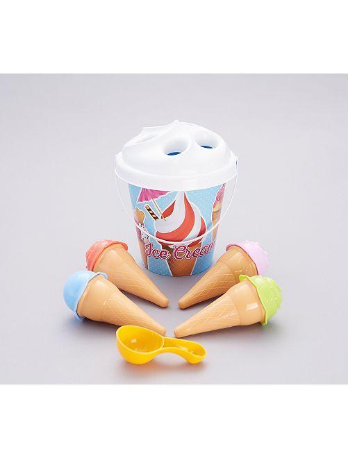 Cubo de playa 'ice cream'                                         azul