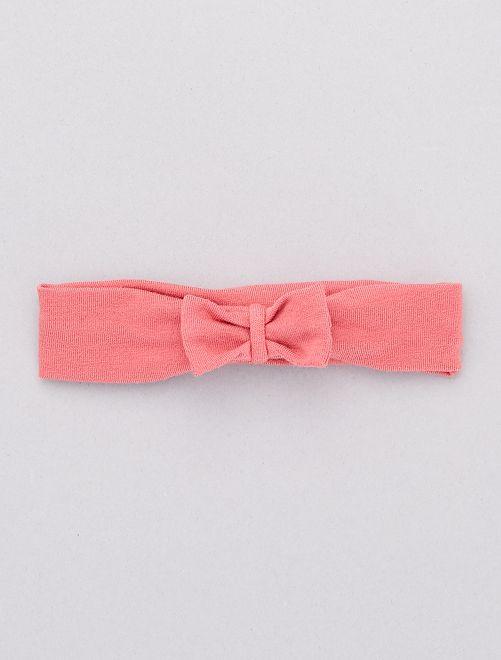 Diadema con lazo de fantasía                                                                                                     rosa