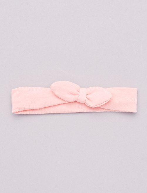 Diadema con lazo de fantasía                                                                                         rosa polvo