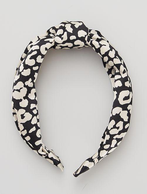 Diadema rígida tipo pañuelo 'pitón'                                         leopardo