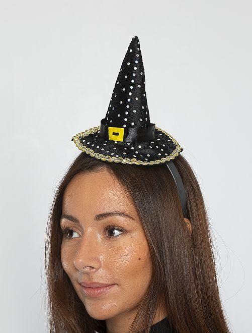 Diadema sombrero de bruja                             negro