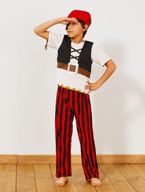 Disfraz 3 en 1 de pirata, indio y cowboy                             marrón