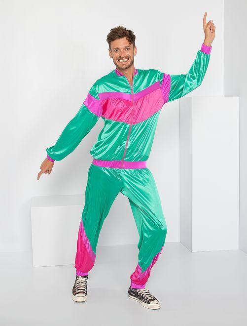 Disfraz años 80                             verde/rosa