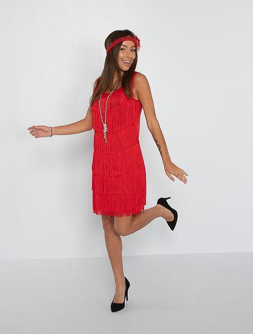 Disfraz charlestón                             rojo