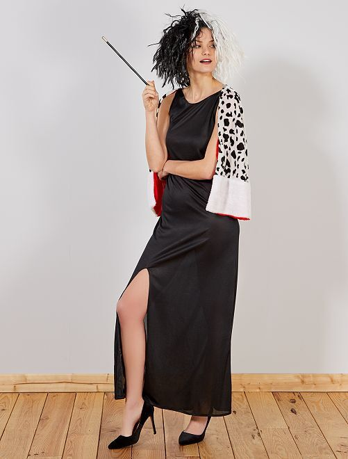 Disfraz 'Cruelle de Vil'                             negro Mujer