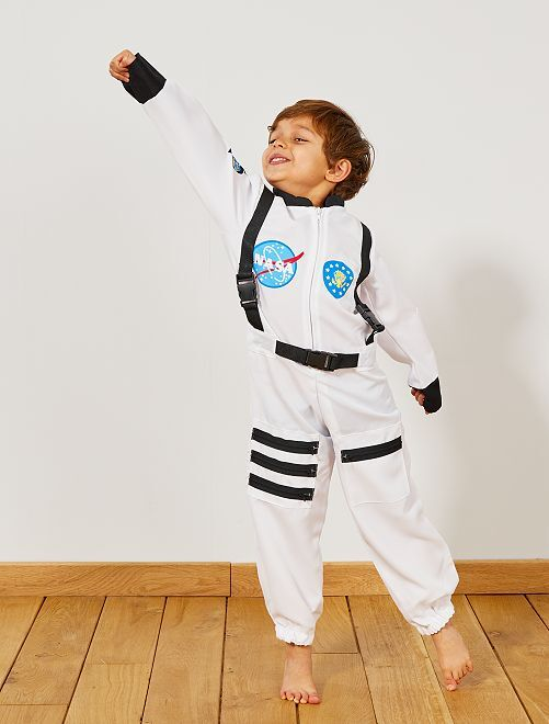 Disfraz de astronauta                             blanco Niños