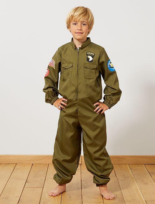 Disfraz de aviador                             caqui Niños