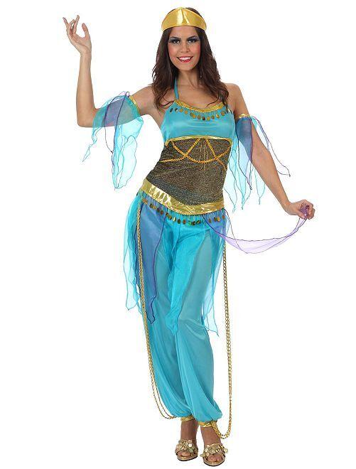 Disfraz de bailarina oriental                             AZUL