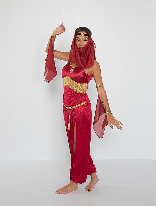 Disfraz de bailarina oriental                             ROJO