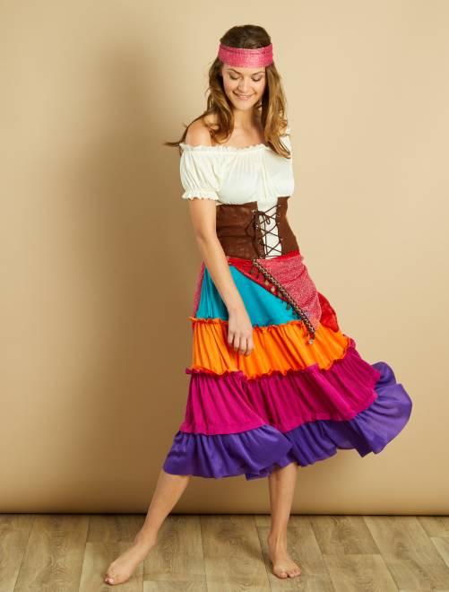 Disfraz de bohemia                             multicolor