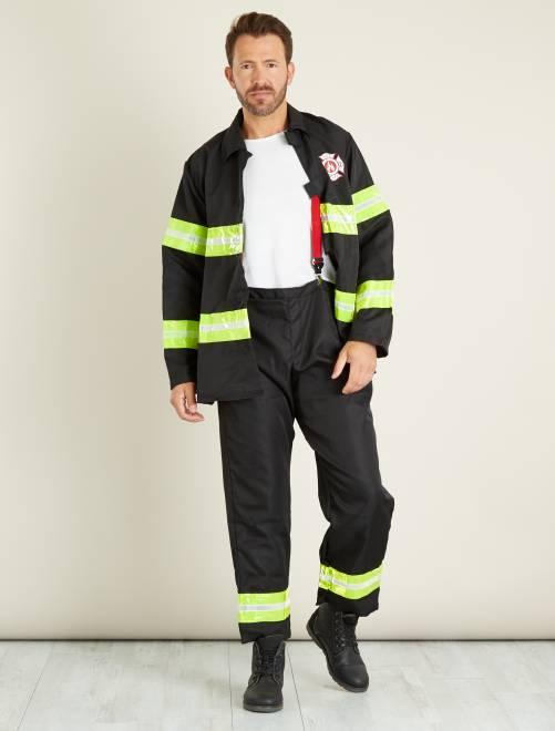 Disfraz de bombero                             negro Hombre