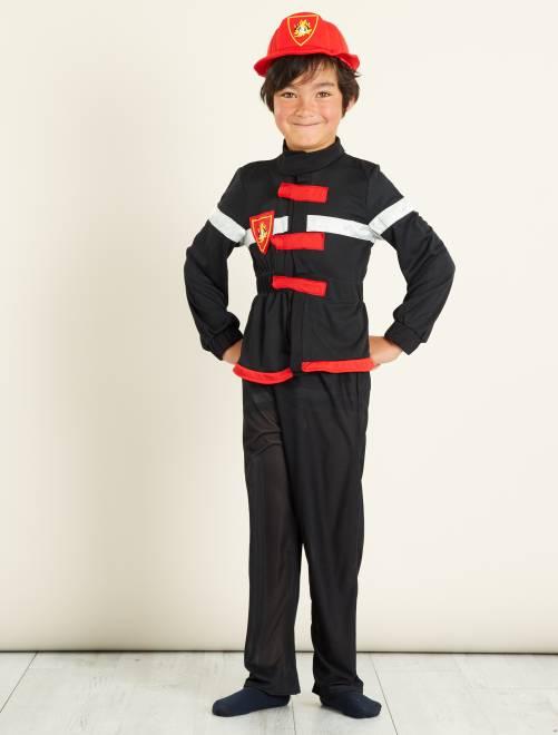 Disfraz de bombero                             negro/rojo