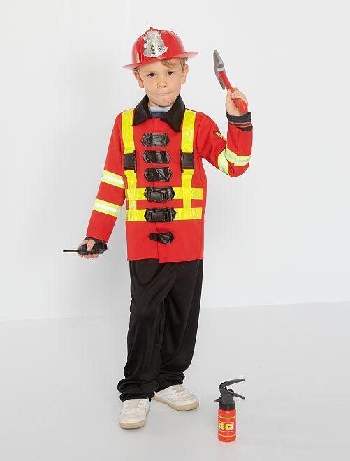 Disfraz de bombero                             rojo