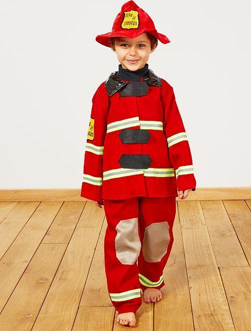 Disfraz de bombero                             rojo Niños