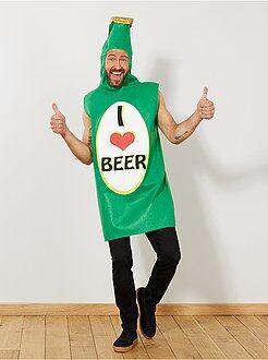 Hombre Disfraz de botella de cerveza
