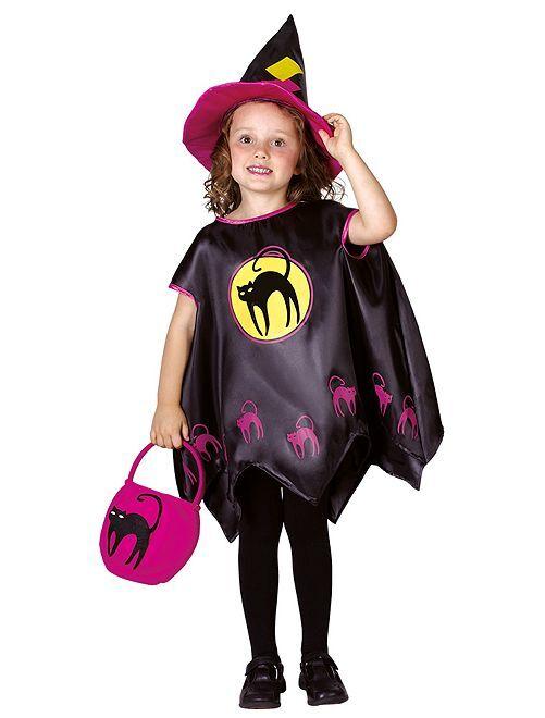 Disfraz de bruja                             negro/rosa