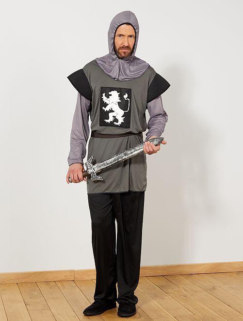 Disfraz de caballero                             gris Hombre