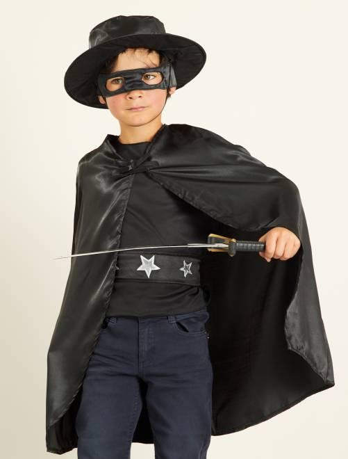 Disfraz de caballero negro                             negro Niños