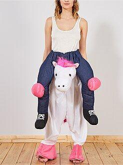 Hombre - Disfraz de caballero sobre unicornio con efecto óptico - Kiabi