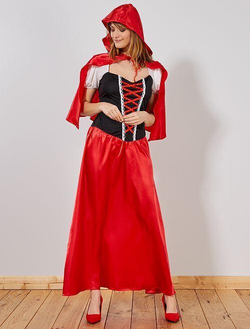 Disfraz de Caperucita Roja para mujer                             rojo
