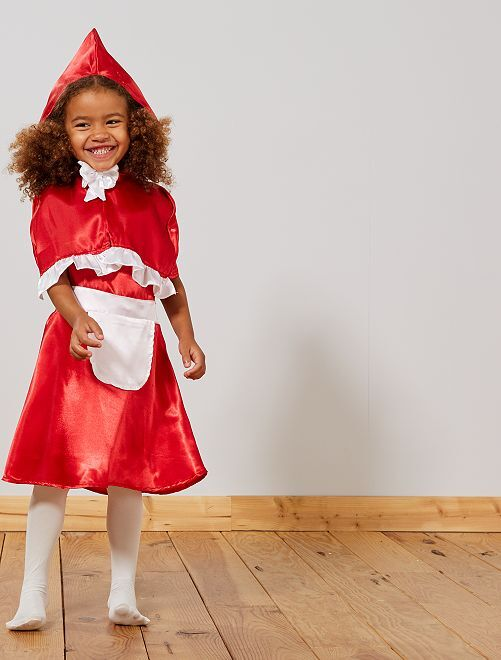 Disfraz de 'Caperucita Roja'                             rojo/blanco