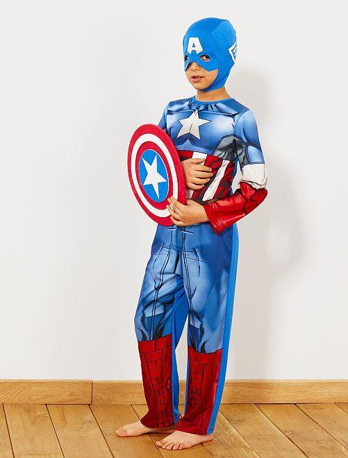 Disfraz de 'Capitán América'                             azul Niños