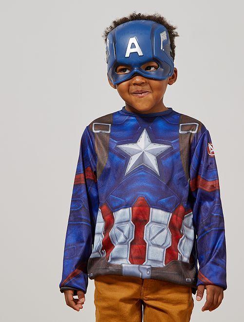 Disfraz de 'Capitán América'                             azul