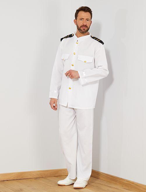 Disfraz de capitán                             blanco Hombre