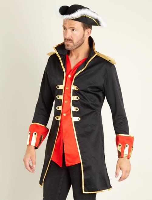 Disfraz de capitán                             negro