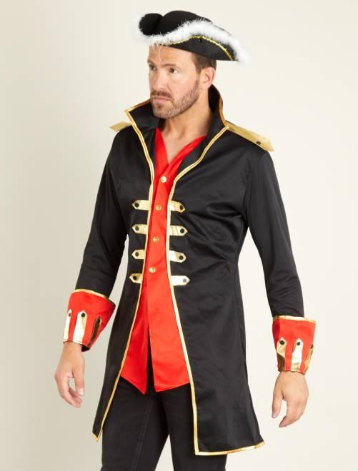Disfraz de capitán                             negro Hombre